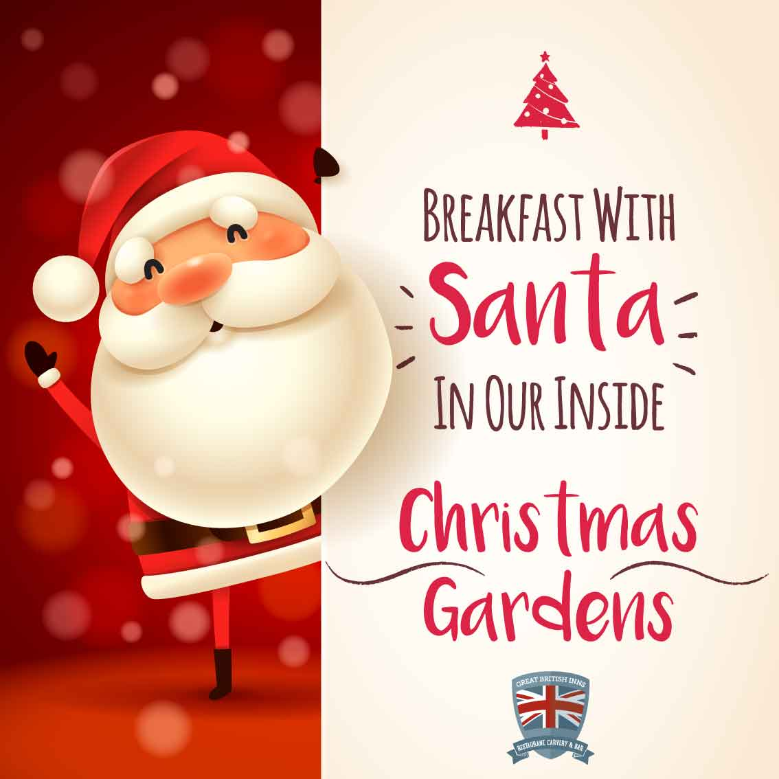 Breakfast with Santa @ The Three Trees, we will update the website with more inforamtion once all details have been confirmed.