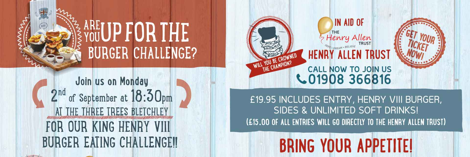burger-challenge-2nd-sept-2019 at the Three Trees